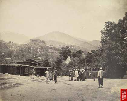 Bhaderwah fort in 1868 (Source: British Library Pictures)